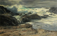 pacific storm, carmel by paul lauritz