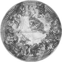 gottvater und die engelhierarchie (after charles lebrun) by gérard audran