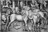 die sieben pferde by hans baldung grien