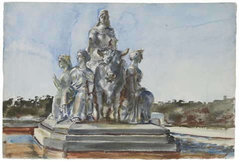 study of a sculptural group by reginald marsh