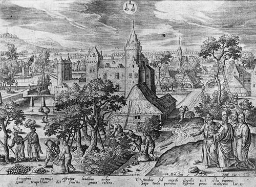 die zwölf monate landschaften mit szenen aus dem leben christi portfolio of 12 by adriaen collaert by hans bol