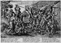 der streit zwischen bauern und soldaten by pieter balten