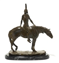 a native american on horseback by charles henry humphriss