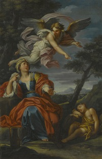 hagar and the angel by luigi garzi