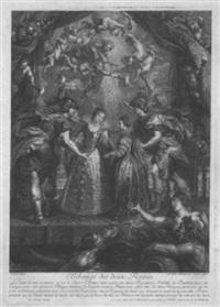 l'échange des deux reines by benoit audran the elder