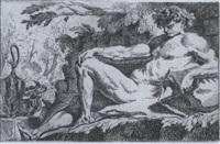die vier jahreszeiten in form von männlichen akten - les quatre saisons, académies d'hommes by charles (karl) audran