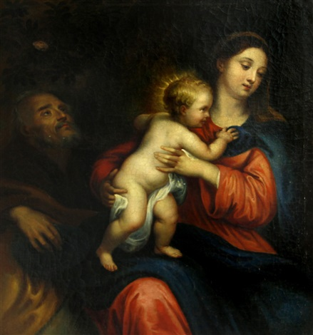 the holy family by sir anthony van dyck
