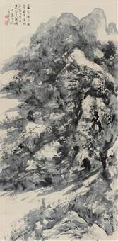 居家临水 (landscape) by liu zhibai