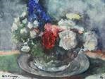 still life of a flower bouquet by kees verwey
