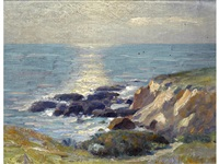 coastal rocks; van cortland park (pair) by ernest martin hennings