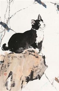猫石图 by yang shanshen