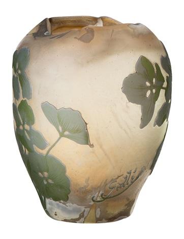 feine jugendstil vase by émile gallé