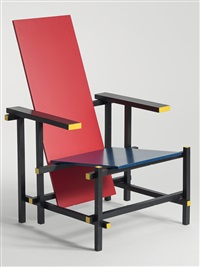 rot-blau stuhl by gerrit thomas rietveld