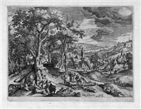 landschaften mit alt- und neutestamentarischen themen (6 works) by hans bol