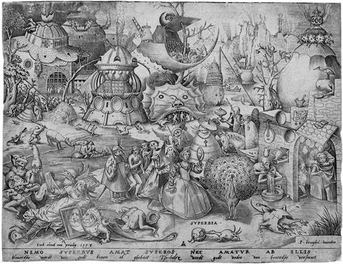 superbia pl 3 from todsünden engraved by pieter van der heyden by pieter brueghel the elder