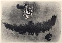 mit schwarzer form - forêt noir - schwarzwald-moustache by willi baumeister