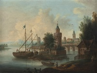 a view of the moselle river by theobald michau