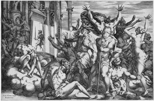 der sieg über die unwissenheit oder die erleuchtung franz i könig von frankreich after rosso fiorentino by rené boyvin