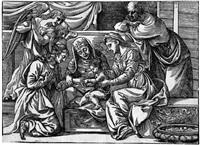 die mystische vermählung der hl. katharina (after tizian) by niccolo boldrini