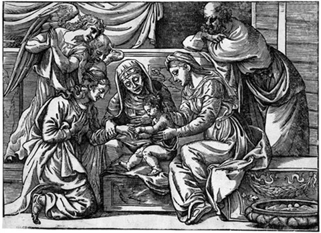 die mystische vermählung der hl katharina after tizian by niccolo boldrini