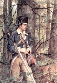 soldier in the woods by julian scott