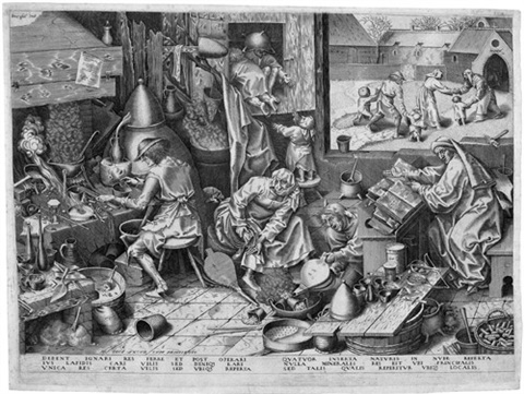der alchemist by pieter brueghel the elder