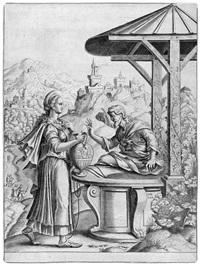 christus und die samariterin by cornelis bos