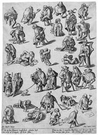 krüppel, bettler und lahme by hieronymus bosch