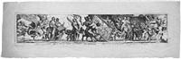 vier triumphzüge: der triumph der malerei; der triumph der musik; der triumph der grammatik; der triumph der arithmetik (4 works) by pierre brebiette
