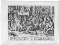 fastnachtsdienstag (engraved by pieter van der heyden) by hieronymus bosch