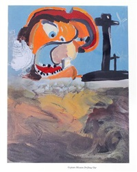 ghost of chance (bk by william s. burroughs w/ 3 works, folio) by george condo