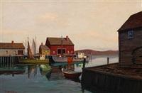 fishing boats by hjalmar amundsen
