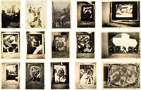 collection of contact prints (15 works) by yun gee
