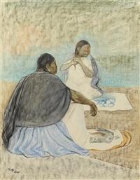 untitled (mujeres sentadas), 1965 by francisco zúñiga
