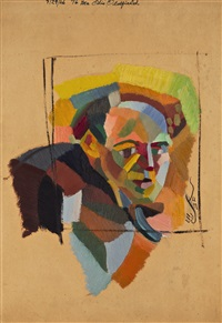 portrait of otis oldfield by yun gee
