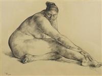 nude of esperanza, 1966 by francisco zúñiga