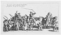 les bohémiens en marche (4 works) by jacques callot