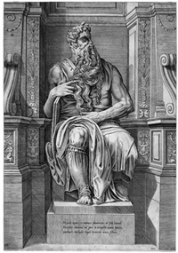 moses, sitzend (after michelangelo) by cornelis bos