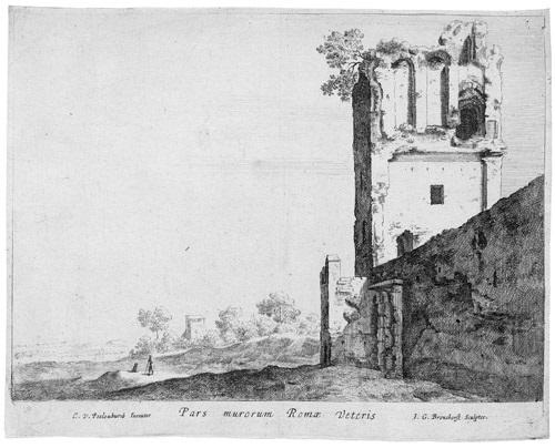 pars murorum romae veteris (after cornelis van poelenburgh) by jan gerritsz van bronckhorst