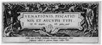 venationis, piscationis, et aucupii typi (portfolio of 47 w/title pg.) by hans bol
