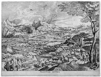 solicitudo rustica (dörfliche sorgen) (engraved by jan und lucas doetecum) by pieter brueghel the elder