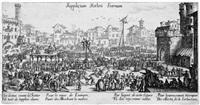 les supplices (die arten der gesetzlichen bestrafung) by jacques callot