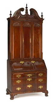 a fine chippendale style front secretary bookcase by goddard and townsend (co.)