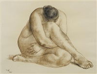 untitled (seated nude) by francisco zúñiga