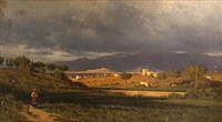 view from near the porta salara in rome looking toward the sabine mountains by dwight benton