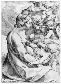 madonna mit dem kind umgeben von engeln by lodovico carracci