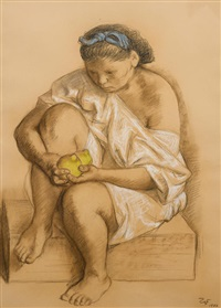 joven con limones (young woman with lemons) by francisco zúñiga