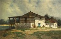 an old landmark, monterey by edwin deakin