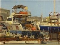 sunday at the boatworks by brian blood