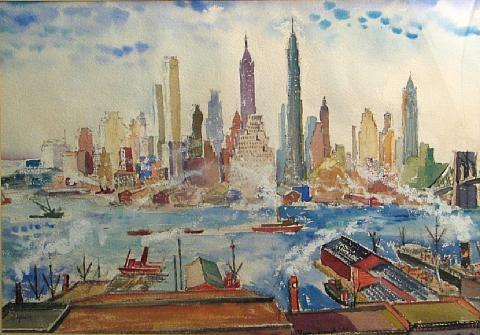 new york city skyline by oliver smith